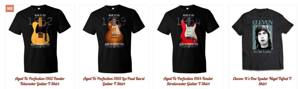 awesome guitar t-shirts