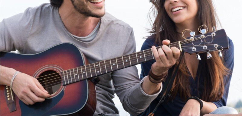 Happiness and a guitar