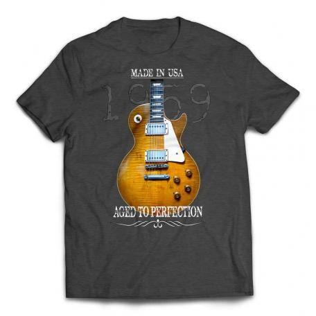 Aged To Perfection 1959 Les Paul T-Shirt – Heather Dark Grey