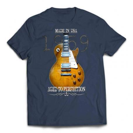 Aged To Perfection 1959 Les Paul T-Shirt - Lake