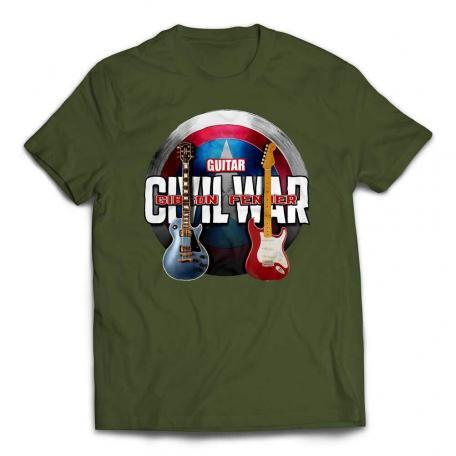 Avengers Civil War Custom Guitar T-Shirt - City Green