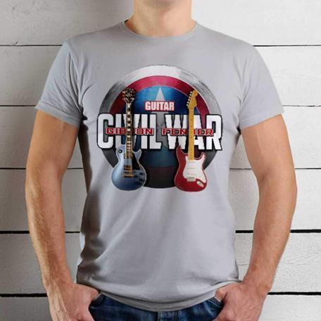 Avengers Civil War Custom Guitar T-Shirt