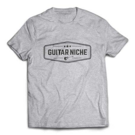 Guitar Niche Tee – Crest Logo - Heather Grey