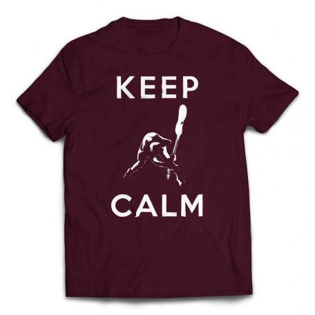Keep Calm Smashing Bass T-Shirt - Maroon