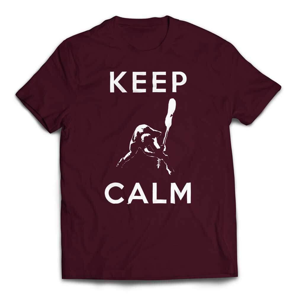 Keep Calm Smashing Bass T-Shirt - Maroon