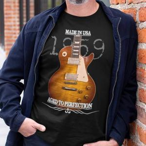 Aged Gibson Les Paul Burst Guitar Shirt