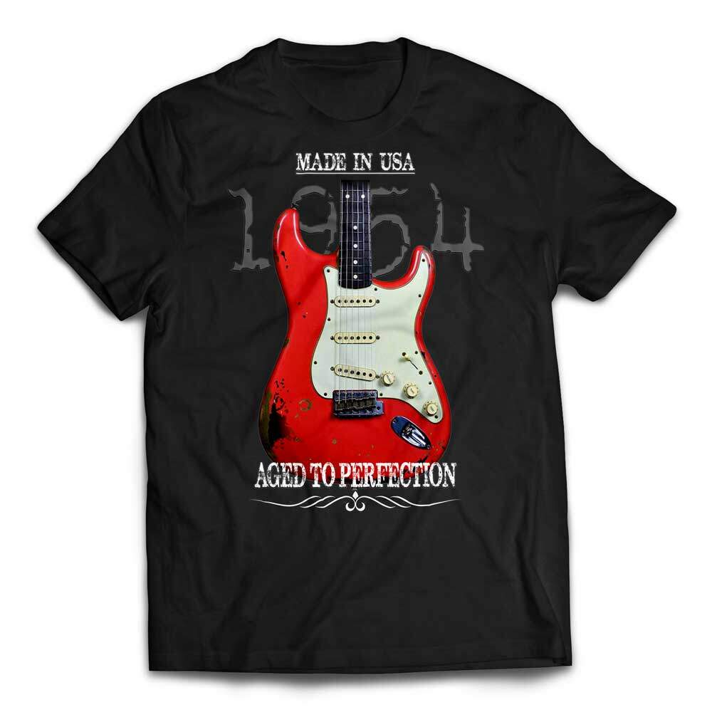 Aged To Perfection 1954 Fender Stratocaster T-Shirt - Black