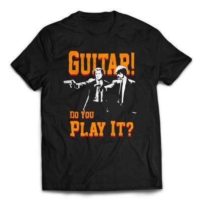 Guitar! Do You Play It! Duo Pulp Fiction T-Shirt - Black