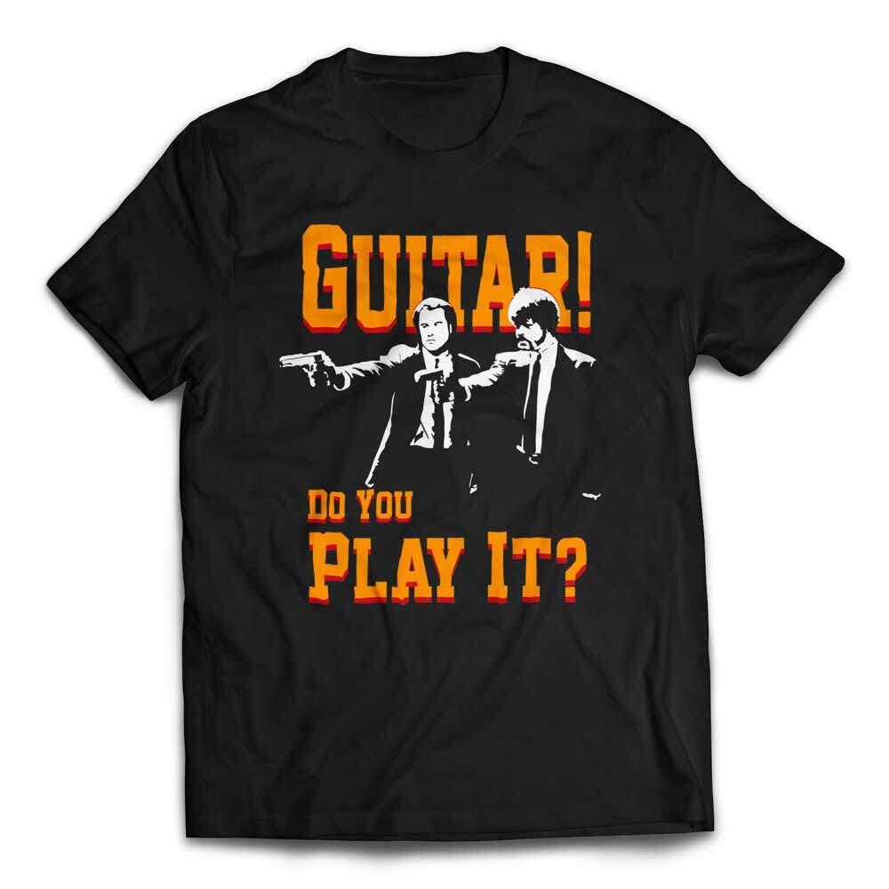 Guitar! Do You Play It! Duo Pulp Fiction T-Shirt - Black