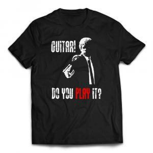 Guitar - Do You Play It Pulp Fiction T-Shirt - Black