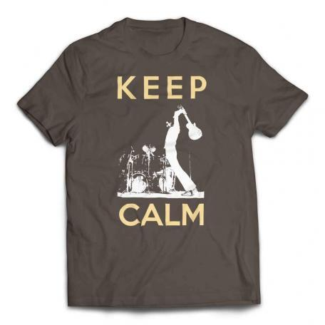 Guitar Smash Keep Calm T-Shirt - Army
