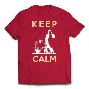 Guitar Smash Keep Calm T-Shirt - Red