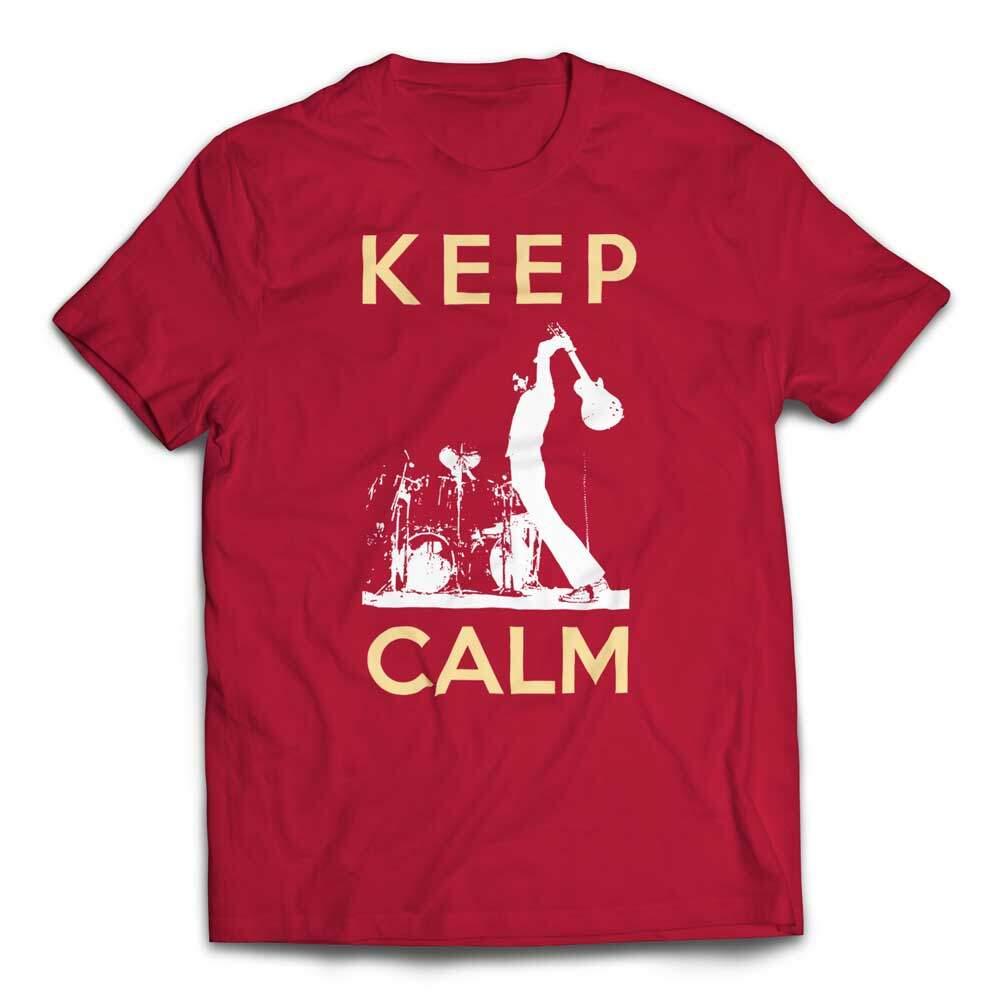 Guitar Smash Keep Calm T-Shirt - Red