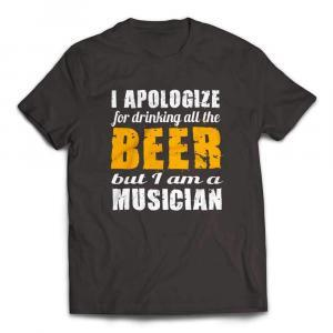 I Apologize for Drinking All the Beer Musicians T-shirt - Smoke