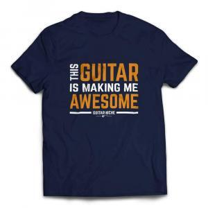 This Guitar Is Making Me Awesome T-Shirt - Navy