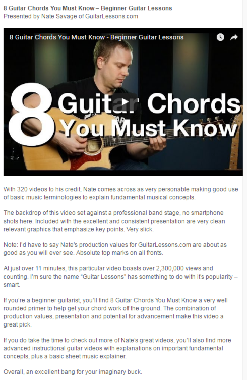 Guitar Niche Guest Post On Guitar Adventures
