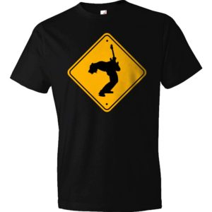 Caution - Guitar Player T-Shirt - Black