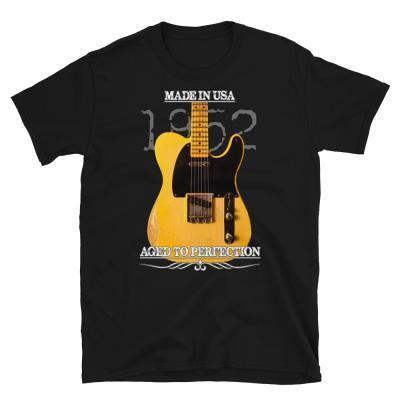 Classic 1952 Fender Telecaster Guitar T-Shirt-black