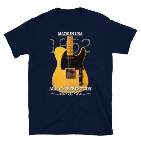 Classic 1952 Fender Telecaster Guitar T-Shirt-Navy