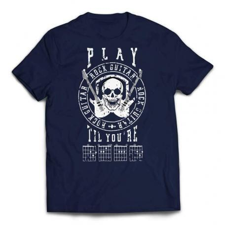 Play Guitar Til Your DEAD T-shirt - Navy
