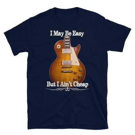 D1703006-Gibson Les Paul Guitar - I May Be Easy T-Shirt-Navy