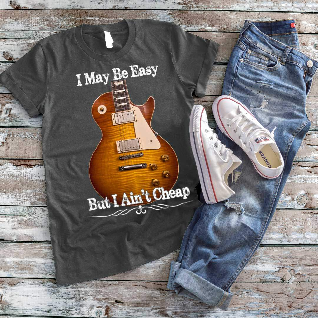Gibson Les Paul Guitar - I May Be Easy T-Shirt-grey