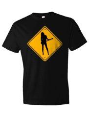 Caution: Girl Guitar Player T-Shirt