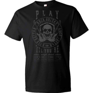 Play Rock Guitar 'Til You're Dead T-Shirt - Dark