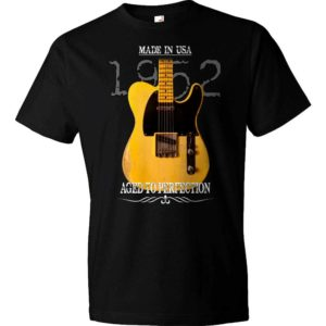 Aged To Perfection 1952 Fender Telecaster T-Shirt-Black