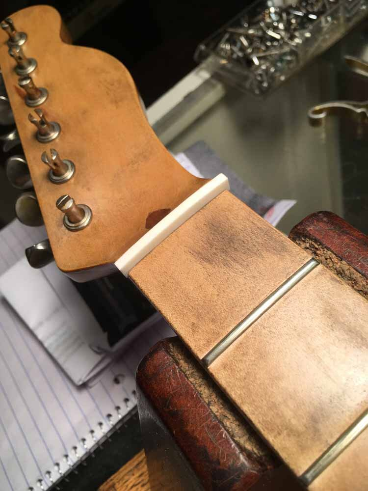 Build Your Own Guitar - bone nut blank