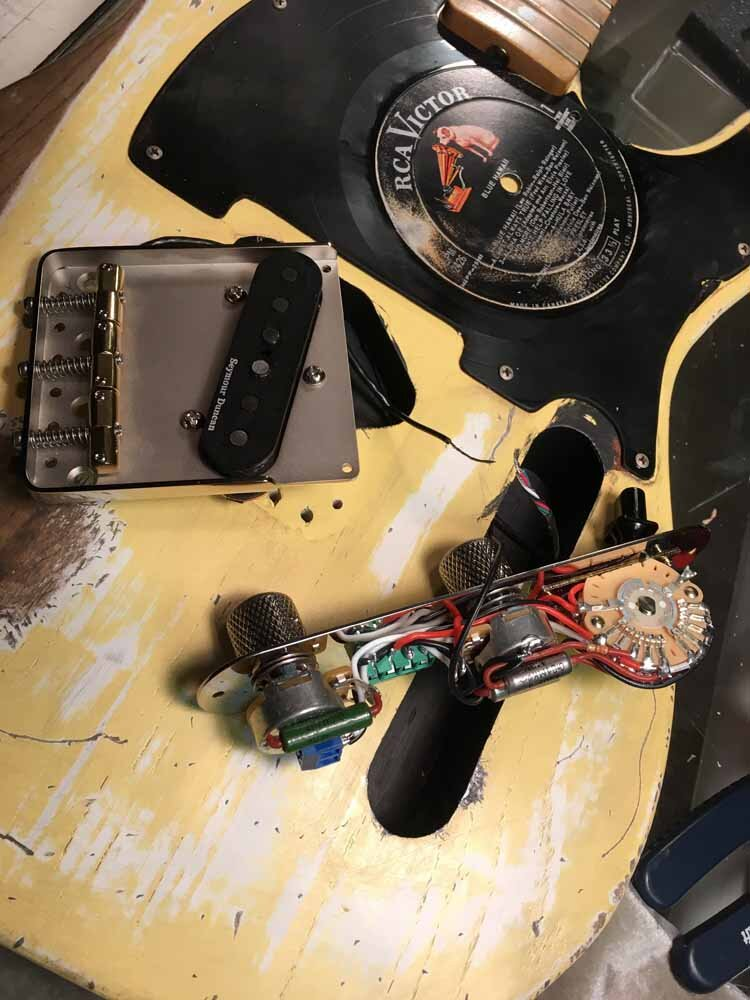 Build Your Own Guitar - electronics assembly