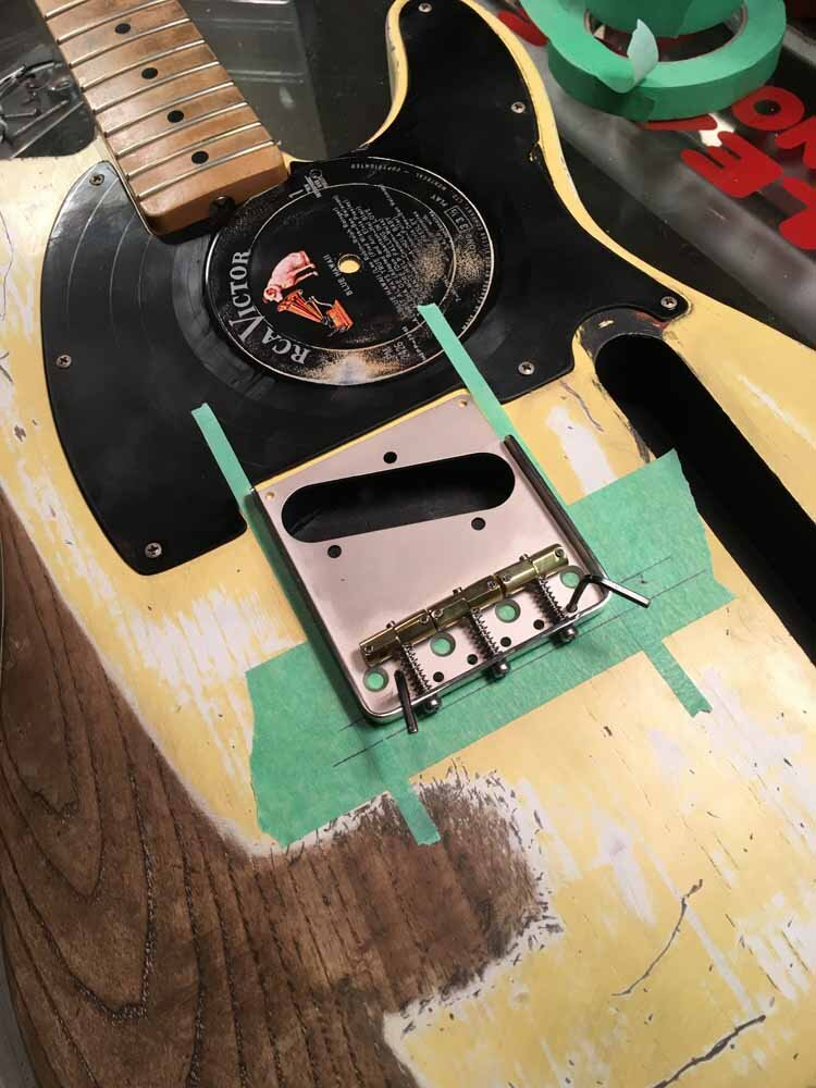 Build Your Own Guitar - registering bridge placement