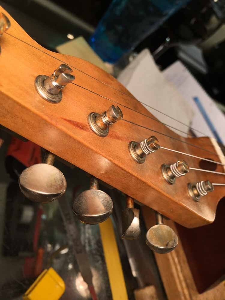 Build Your Own Guitar - strings installed
