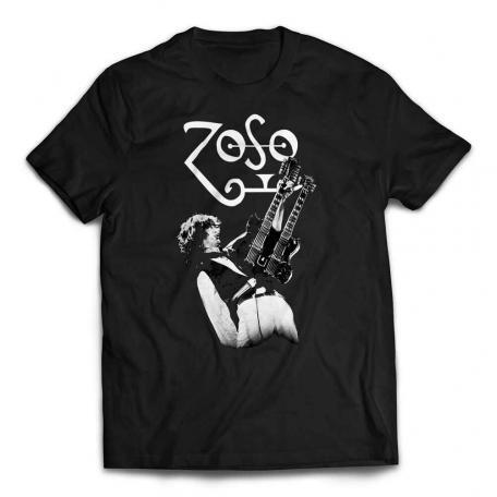Jimmy Page Zoso Guitar T-shirt - Black