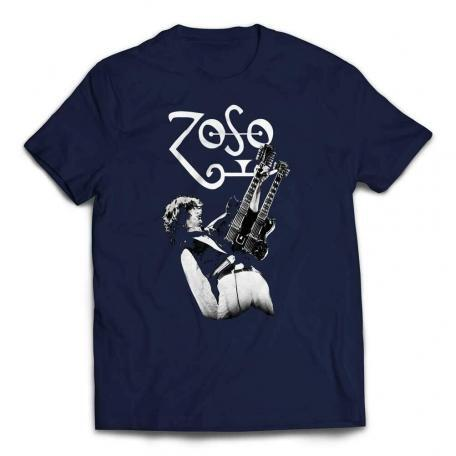 Jimmy Page Zoso Guitar T-shirt – Navy