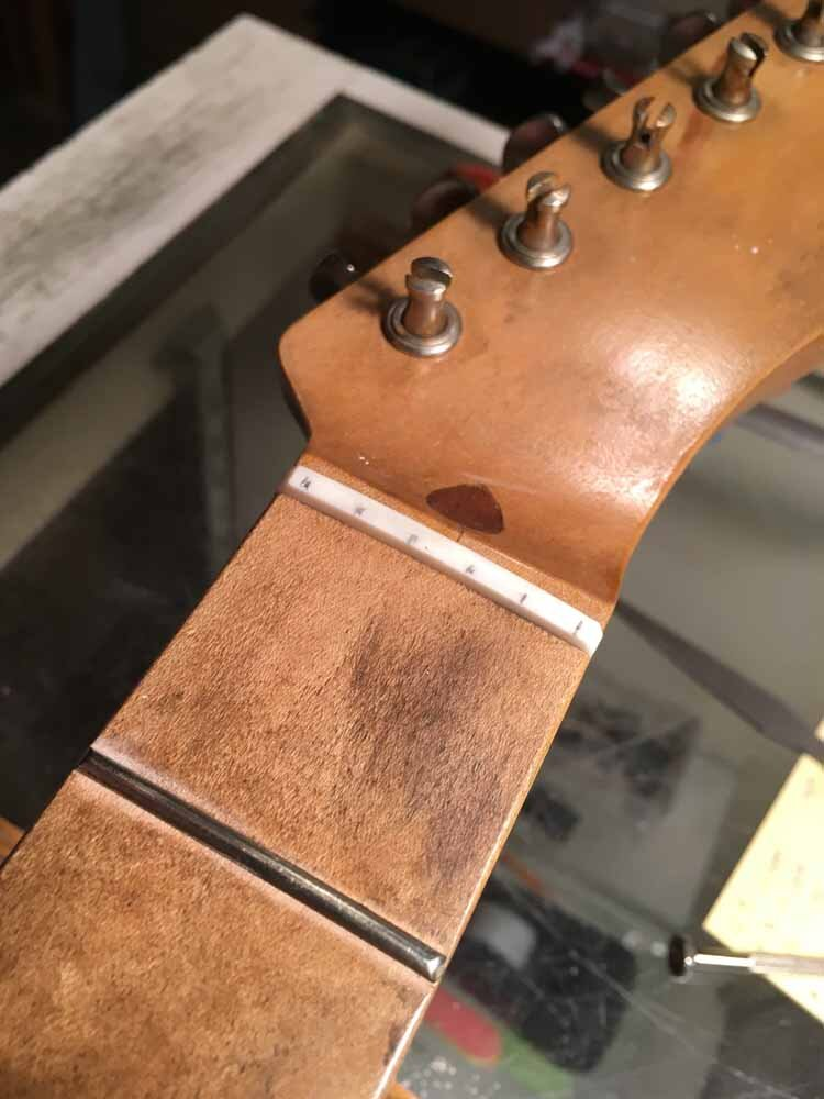 New Guitar Nut - string slot layout