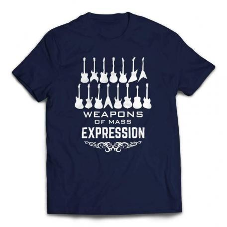 Weapons of Mass Expression Guitar T-shirt - Navy