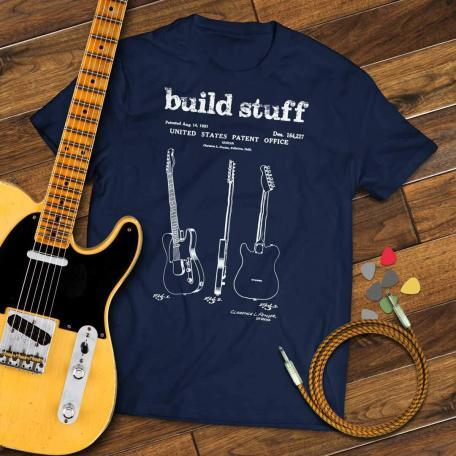 Build Stuff - navy with guitar