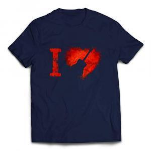 I Love Acoustic Guitars T-shirt - Navy