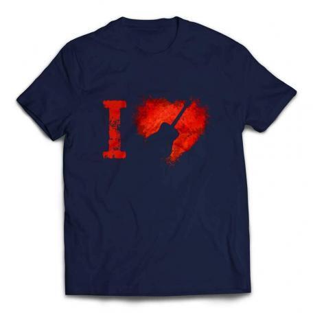 I Love Acoustic Guitars T-shirt - Navy