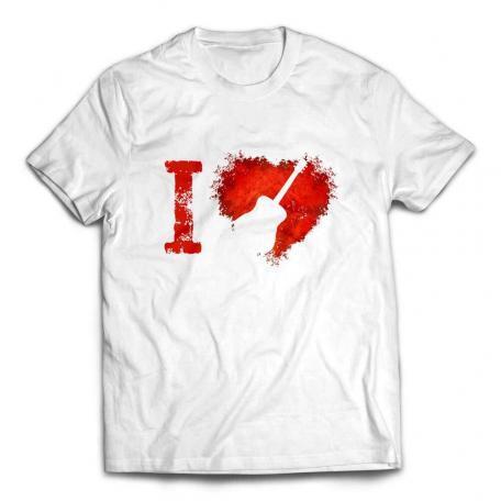 I Love Acoustic Guitars T-shirt - White