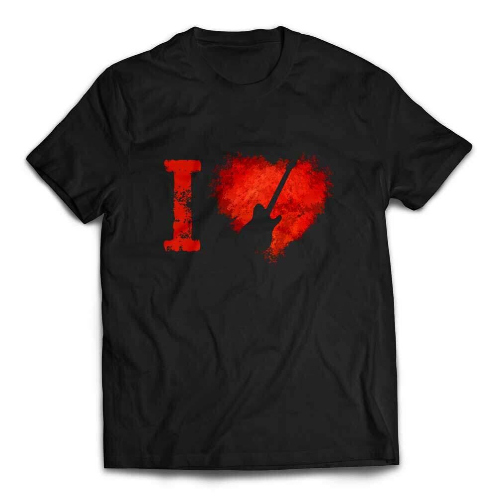 I Love Telecaster Guitars T-shirt - Black