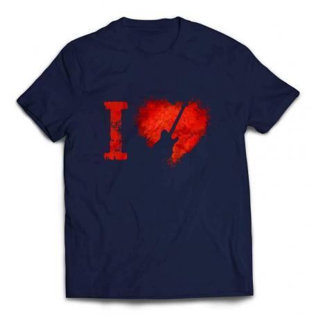 I Love Telecaster Guitars T-shirt – Navy