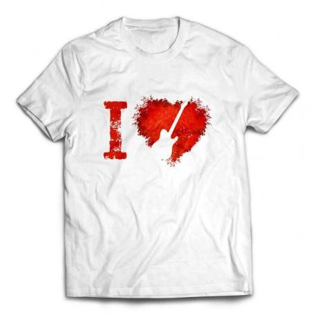 I Love Telecaster Guitars T-shirt – White