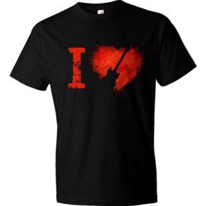 I Love Gibson SG Guitars Rock T-shirt