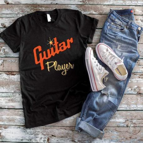 Cool Gibson Style Guitar Player T-shirt