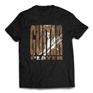 Custom Designed Jimmy Page Guitar Player Rock T-shirt - Black