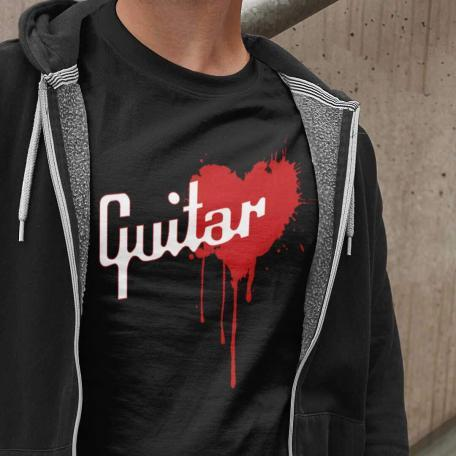 Gibson Style Bleeding Heart Guitar T-shirt