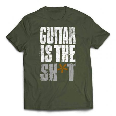 Guitar Is The Shit T-shirt - Olive