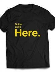Guitar Lives Here Designer T-shirt